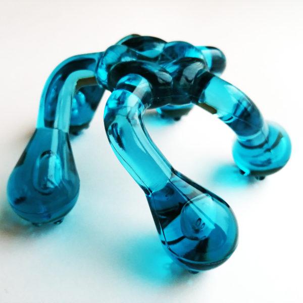 массажер «лапонька 2» (цвет: морская волна)