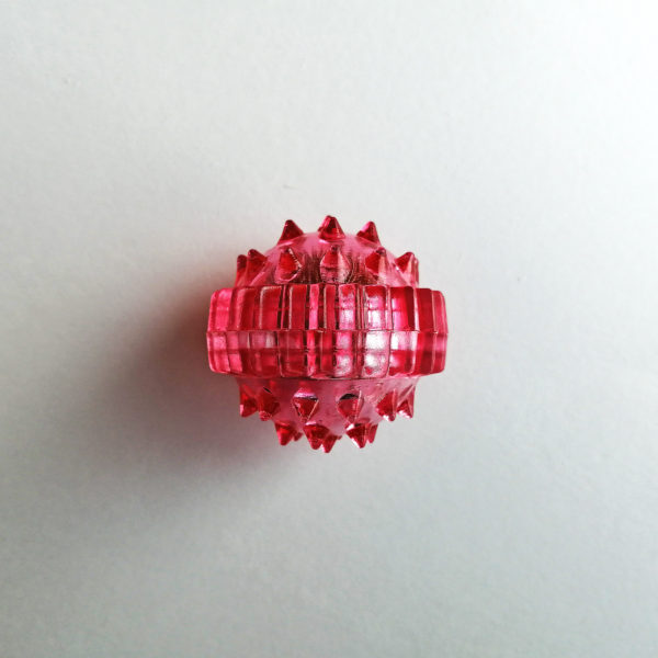 массажный шарик су джок лапонька красный
